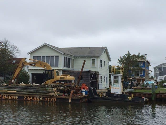 Sandy damage at NJ shore