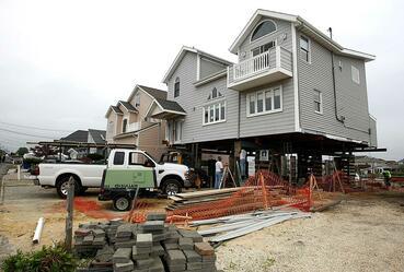 Rebuilding homes after Sandy