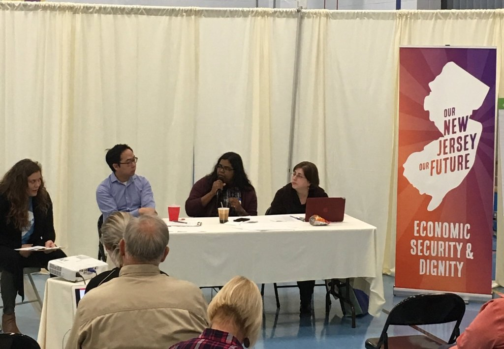 """Kim on a healthcare panel at our first convention, """"Our New Jersey Our Future"""""""